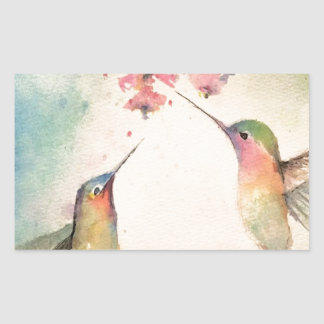 hummingbirds rectangular sticker