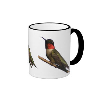 Hummingbirds Ringer Coffee Mug