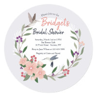 Hummingbirds Round Invitation