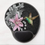 """Hummingbird&#39;s Song Gel Mouse Pad<br><div class=""""desc"""">Pearls,  Flowers and Hummingbirds all things beautiful</div>"""