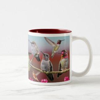 Hummingbirds Two-Tone Coffee Mug