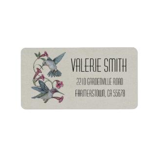 Hummingbirds & Vine Address Label