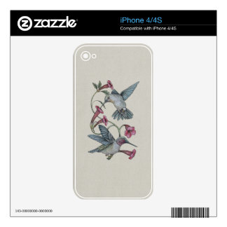 Hummingbirds & Vine Decals For The iPhone 4S