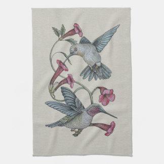Hummingbirds & Vine Hand Towels