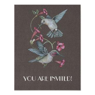 Hummingbirds & Vine Personalized Invite