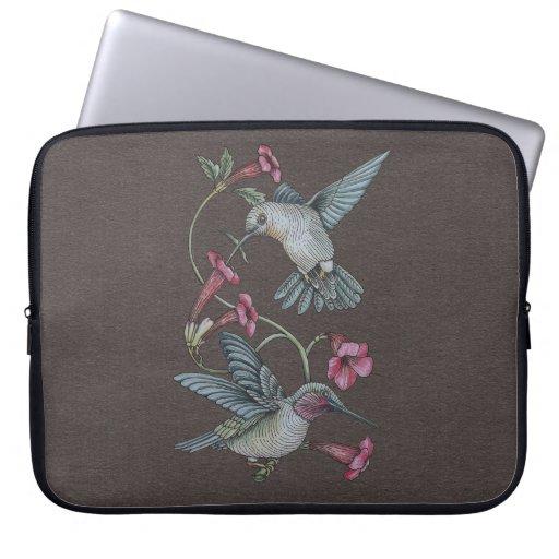Hummingbirds & Vine Laptop Computer Sleeves