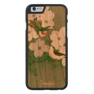 Hummingbirds Vintage Art Wooden iPhone 6 Case