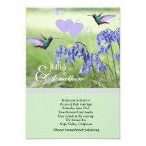 Hummingbirds Wedding Invitation