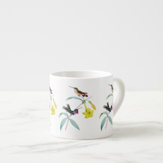 Hummingbirds Wildflower Botanical Espresso Mug