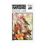 Hummingbirds with Orchids Stamp