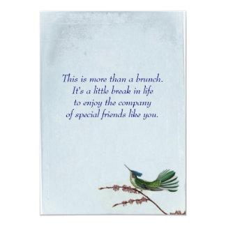 Hummungbird Brunch Card