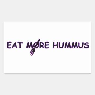 HUMMUS BABY RECTANGULAR STICKER
