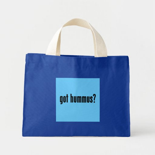 ¿hummus conseguido? bolsas lienzo