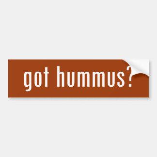 ¿hummus conseguido? etiqueta de parachoque