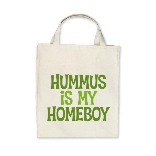 Hummus es la mi bolsa de asas orgánica del ultrama