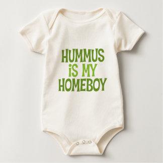Hummus Is My Homeboy Baby Organic Baby Bodysuit