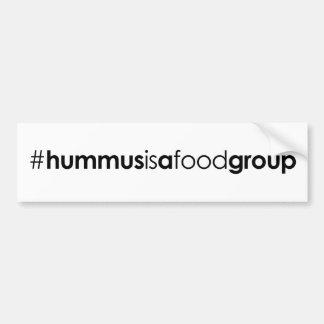 #hummusisafoodgroup Bumper Sticker
