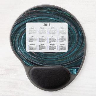 Humo 2017 del trullo calendario de 52 semanas por alfombrillas de raton con gel
