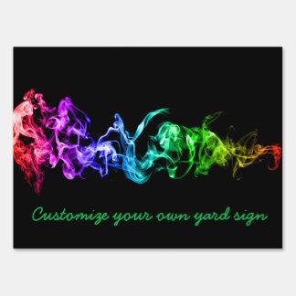 Humo abstracto colorido - un arco iris en la cartel