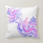 Humo abstracto en el agua almohadas