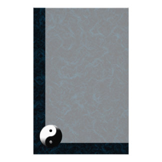 Humo azul con YinYan Personalized Stationery