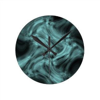 humo azul relojes de pared