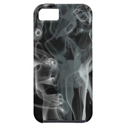 Humo blanco en fondo negro iPhone 5 carcasas