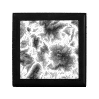 Humo blanco y negro caja de joyas