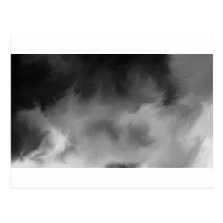 Humo brumoso gris postales