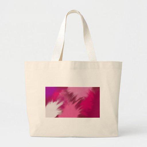 Humo brumoso rosado bolsa tela grande
