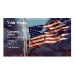 Humo caido pero no olvidado y bandera rasgada tarjetas de visita