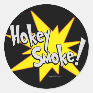 ¡Humo de Hokie! … Pegatinas Redondas