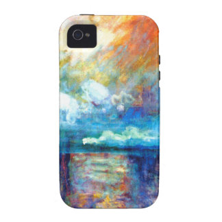 Humo de Monet en la niebla Case-Mate iPhone 4 Carcasa