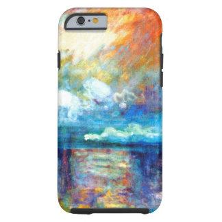 Humo de Monet en la niebla Funda Para iPhone 6 Tough