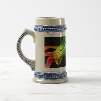 humo del arco iris jarra de cerveza