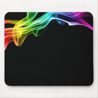humo del arco iris mouse pad