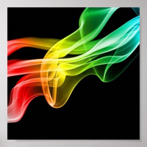 humo del arco iris póster