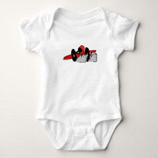 Humo del bebé el competir con auto t-shirt