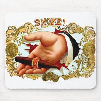 ¿Humo del vintage del kitsch del arte retro de la  Tapete De Raton