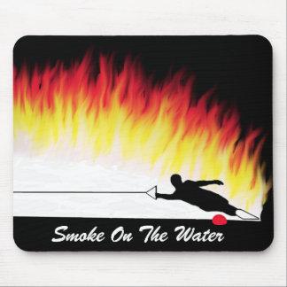 """""""Humo en esquí acuático Mousepad del agua"""" Alfombrilla De Raton"""