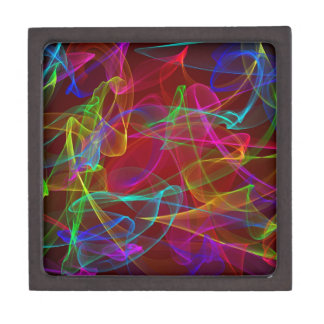 Humo multicolor caja de recuerdo de calidad