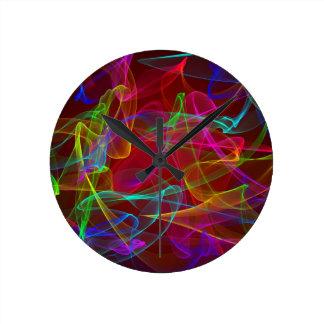 Humo multicolor reloj