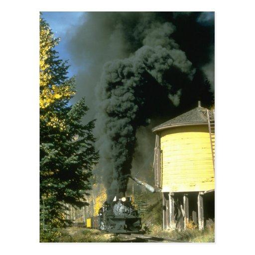 Humo negro en el tanque de Cresco, C&TSRR Tarjeta Postal