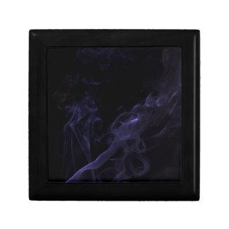 Humo púrpura en negro joyero cuadrado pequeño