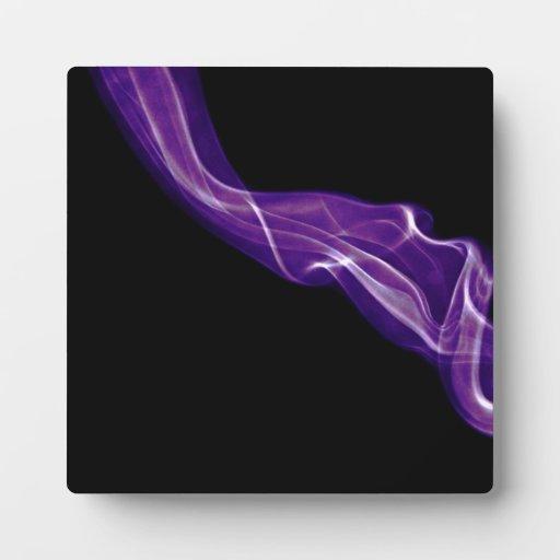 Humo púrpura placas de plastico