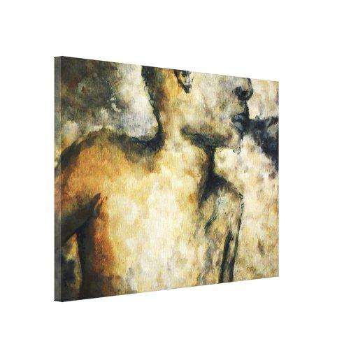 humo que sopla impresión en lienzo