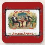 Humo social posavasos de bebidas