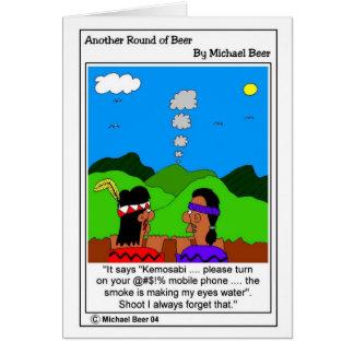 humo tarjeta de felicitación