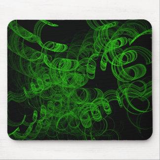 Humo verde del fractal tapete de ratón