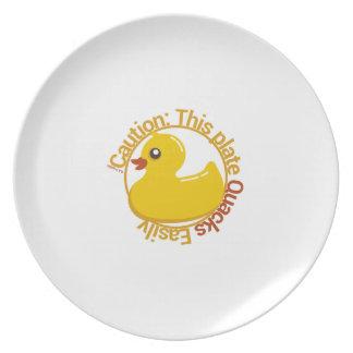 Humor 2 del pato del pato plato de comida